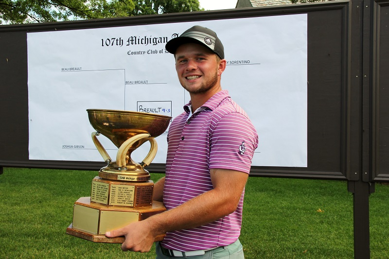 Hartland's Beau Breault Returns, Wins 107th Michigan Amateur Championship