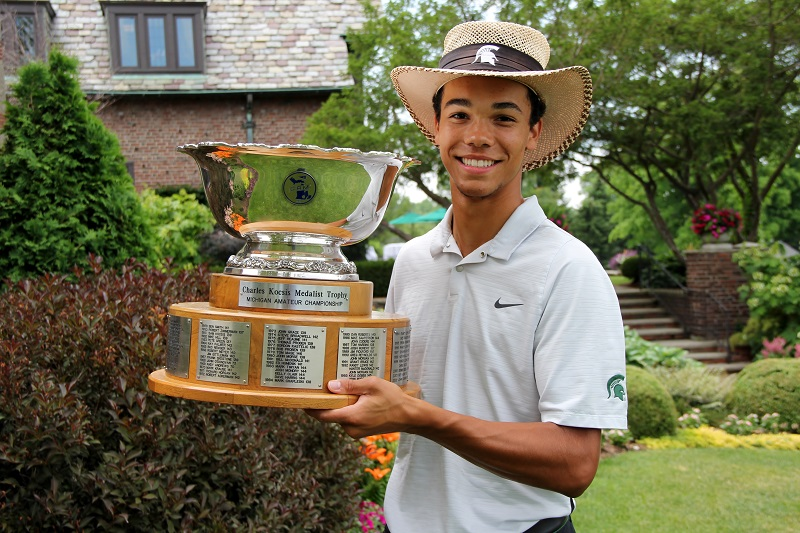 Andrew Walker Sets Record, Earns Top Seed at Michigan Amateur Championship