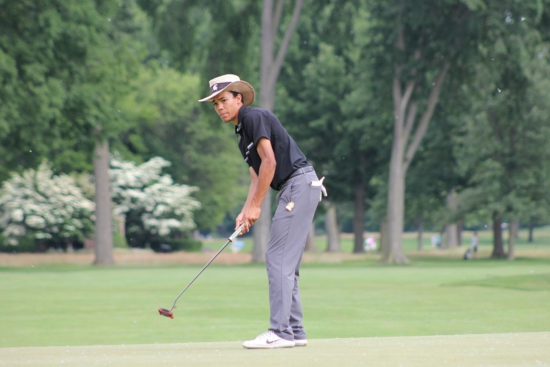 Hot Putter Helps Michigan State's Andrew Walker Set Pace at 107th Michigan Amateur